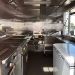 shiny new kitchen on food truck