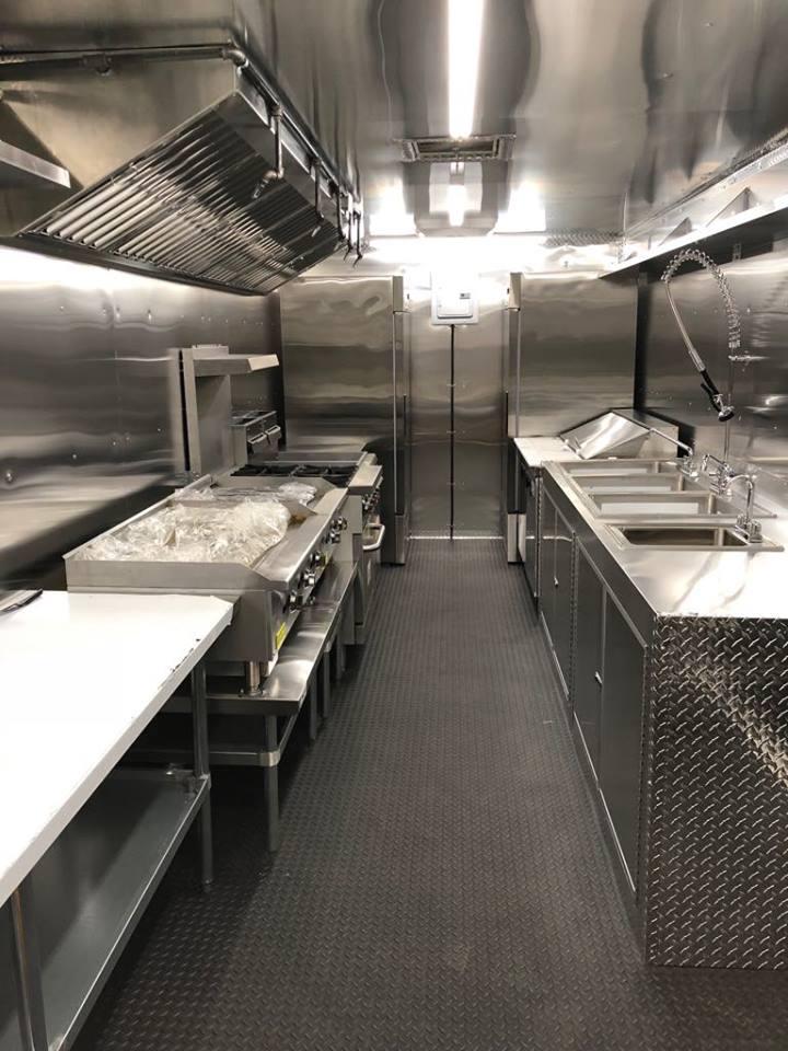 shiny new mobile kitchen