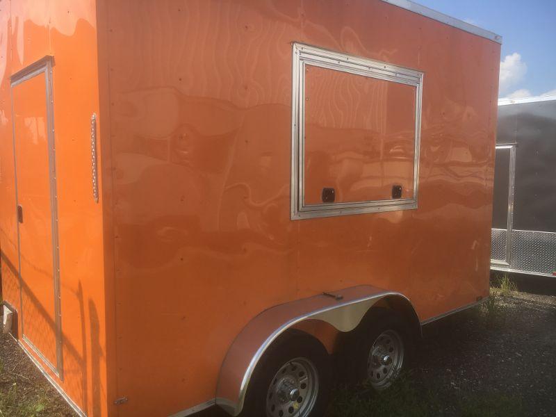 Orange Food Trailer for Sale